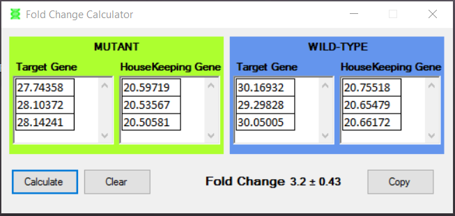 how to calculate fold change